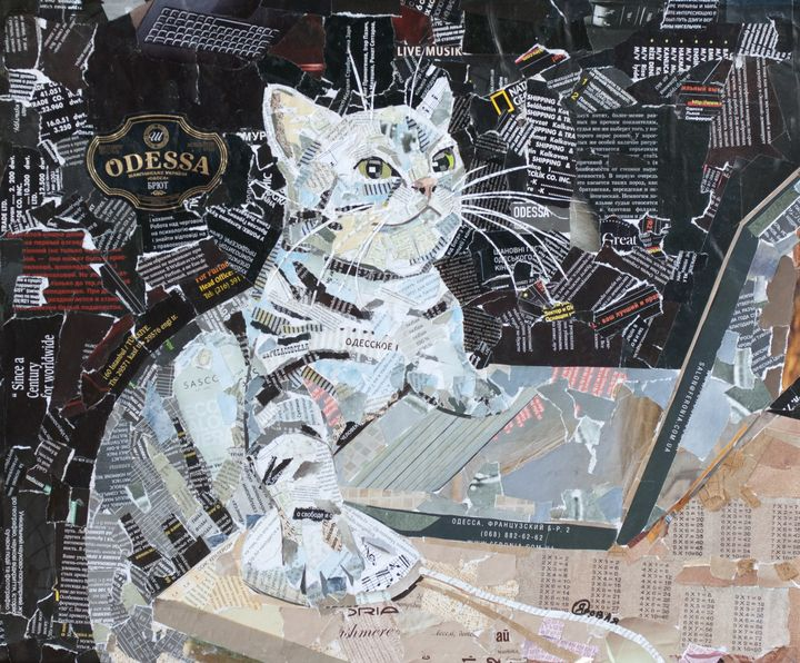 smart cat - yarovaya.art