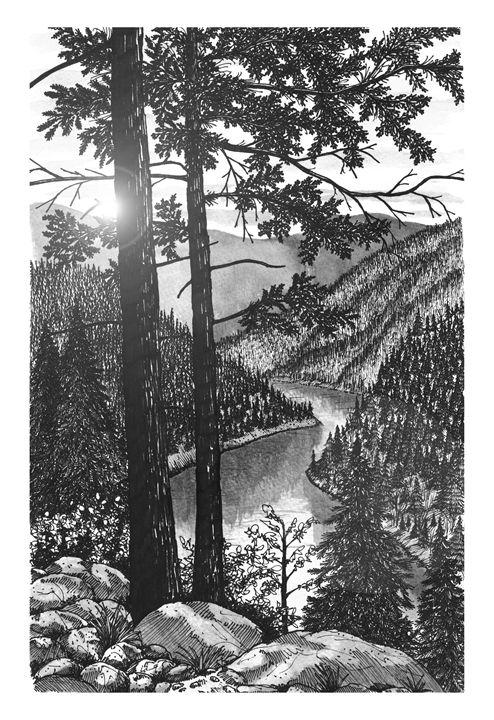 Overlooking the River Valley - Jonathan Baldock