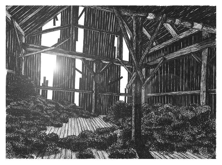 Inside the Barm at Sunrise - Jonathan Baldock