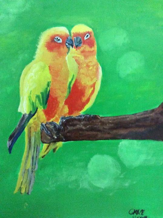 Love Parrot Grace Gallery Paintings Prints Animals Birds Fish Birds Parrots Cockatoo Artpal