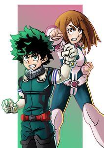Deku and Ochako - My Hero Academia