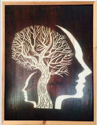 Man Tree Art - Maysan Etching