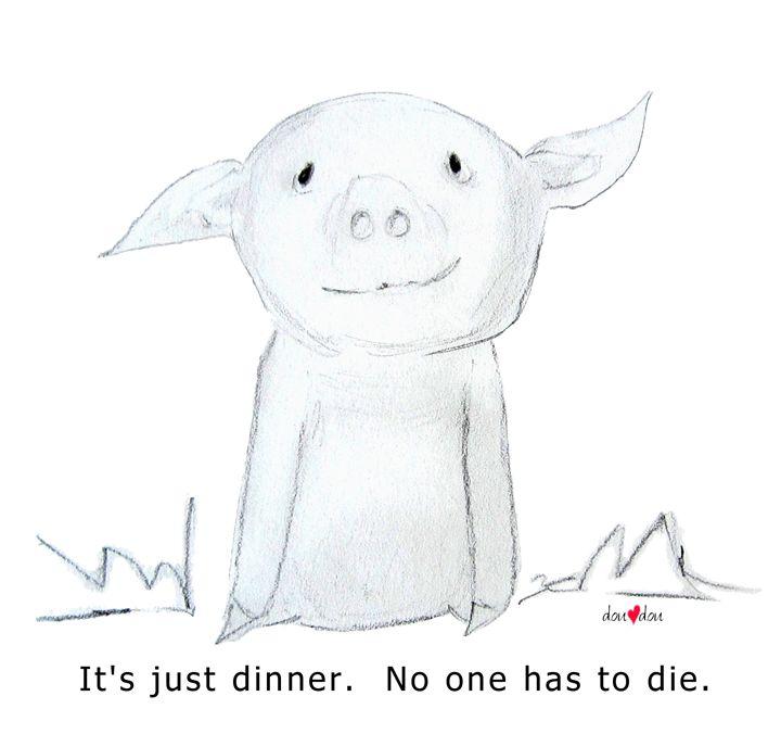 It's just dinner. Piglet - doudou