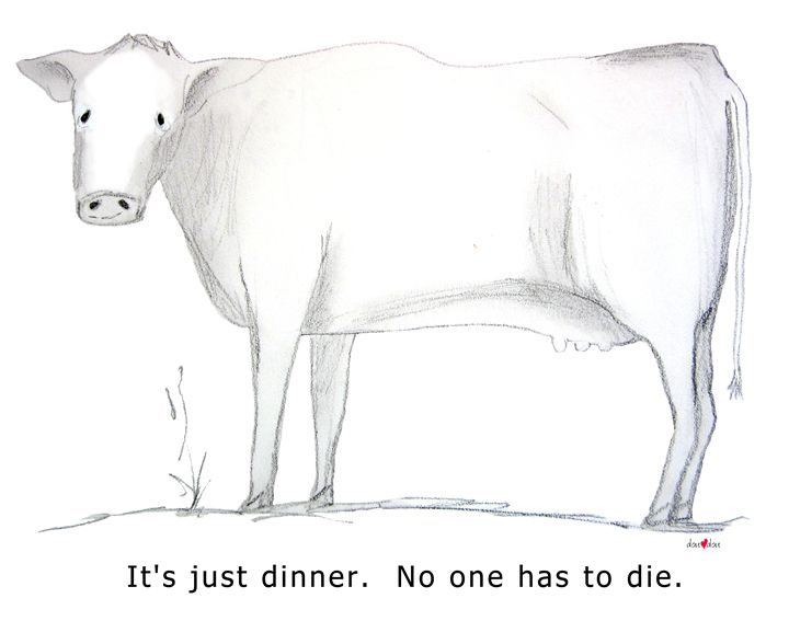 It's just dinner. Cow - doudou