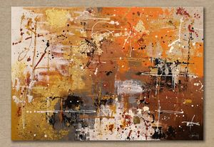 Abstract art with 24K Gold Leaf