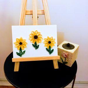Quilled Sunflower Wall Art - Quillology