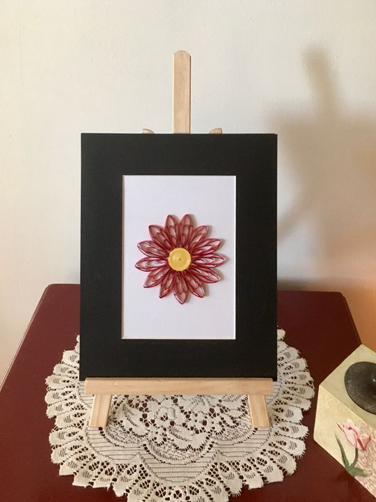 Husked Red Flower Artwork - Quillology