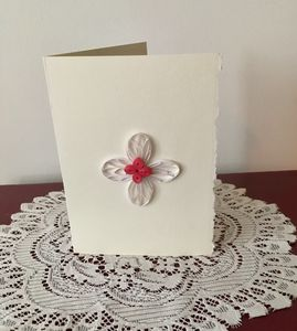 Quilled Cross Blank Note Card