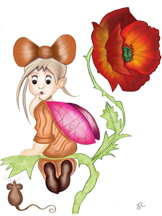 Poppy fairy - Artistically unique.