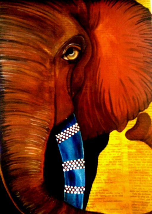 African Elephant by Daniele - Inspired by Art