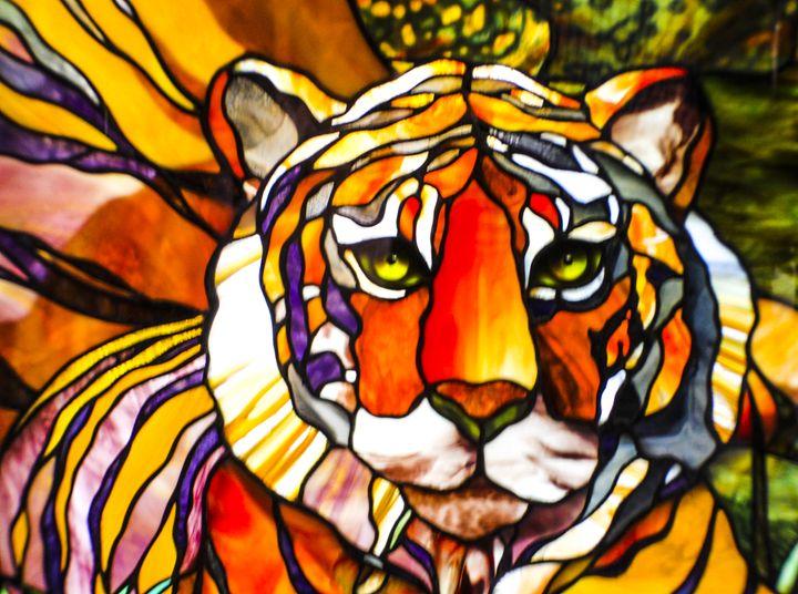 Stained Glass Tiger - Harrison Setzler