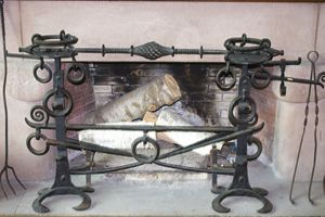 Fireplace at Sonnenberg Mansion