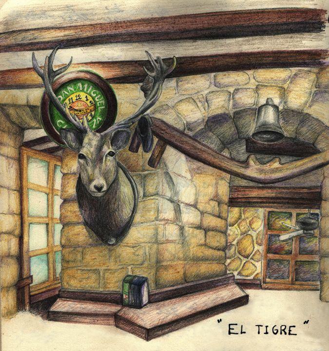 El Tigre in Madrid - Watercolor Pencil Illustrations