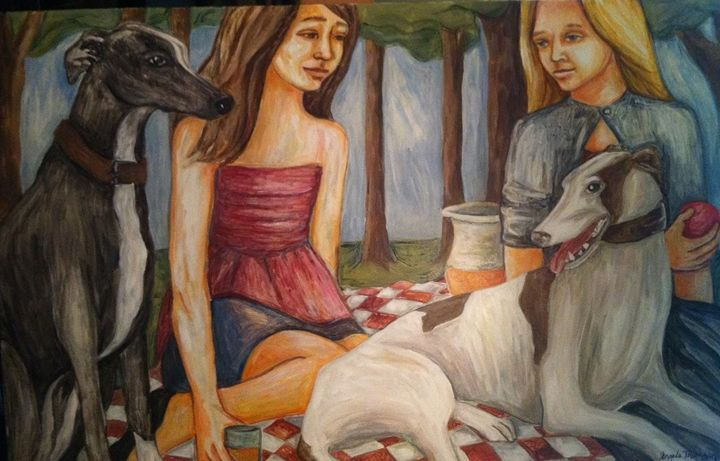 Frienship - Paintings by Angela Thomson