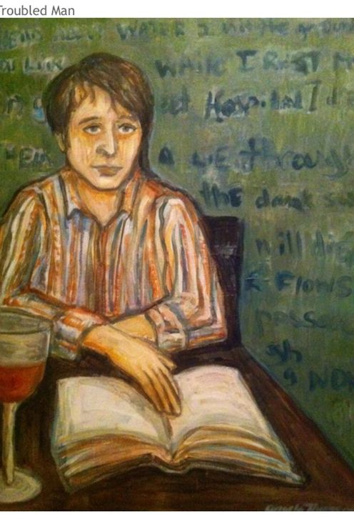Troubled man - Paintings by Angela Thomson
