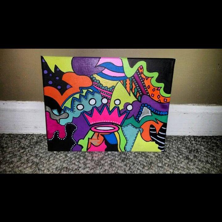 Handpainted Crown Canvas - HandPainted