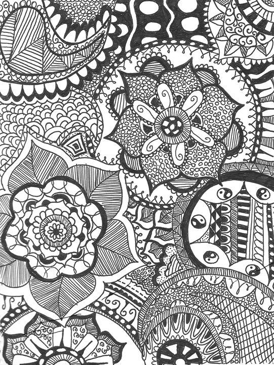 Blooming Flower - Mariam's Doodles