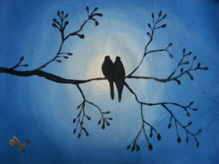 love birds - baby art