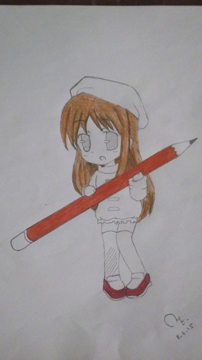 12 yrs old girl drawing - baby art