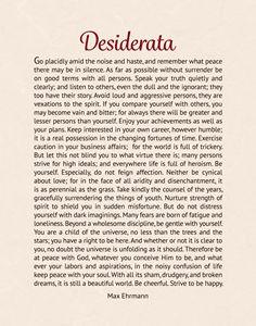 The Desiderata