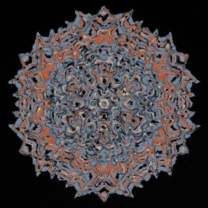 Decorative Mandala; rust, blue/gray