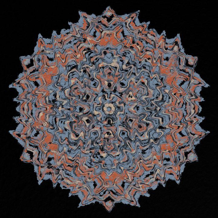 Decorative Mandala; rust, blue/gray - Digital Crafts