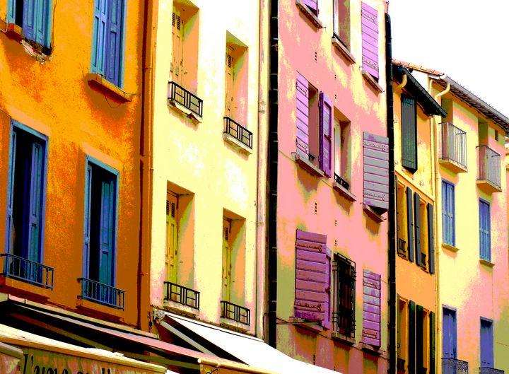 Colourful house Collioure, Languedoc - Nicholas Rous