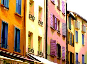 Colourful house Collioure, Languedoc