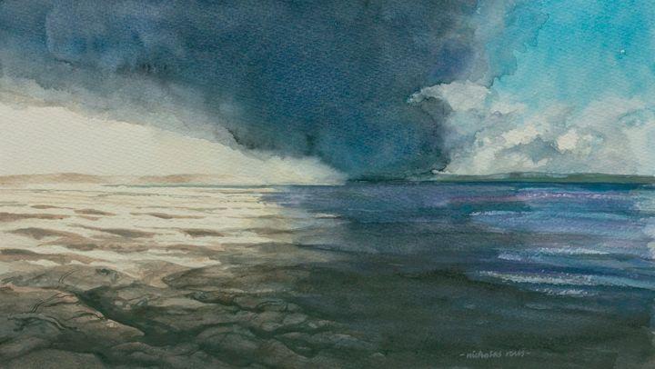 Approaching storm, Braunton Burrows, - Nicholas Rous