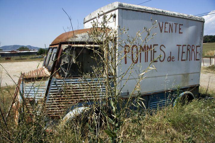 Abandoned Citroen van, France - Nicholas Rous