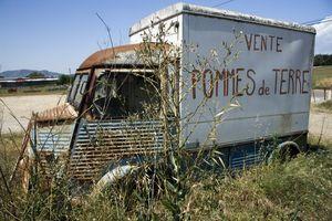 Abandoned Citroen van, France