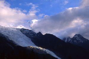 Mount Blanc range and glacier France