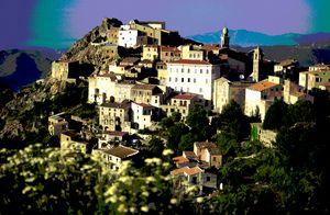 Hilltop village in Corsica