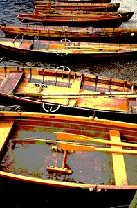 Rowing boats on Derwentwater