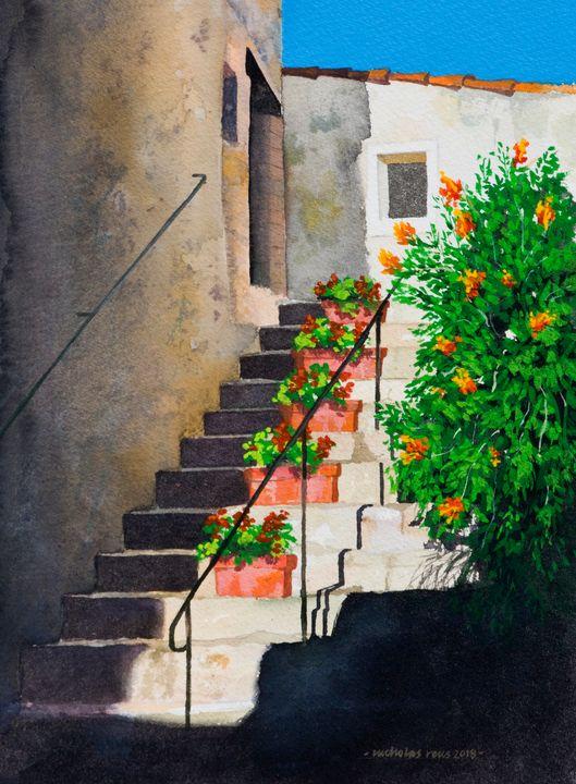 Floral steps, Provence - Nicholas Rous