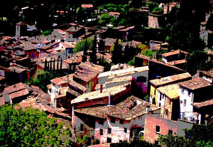 Rooftops of Cotignac, France - Nicholas Rous