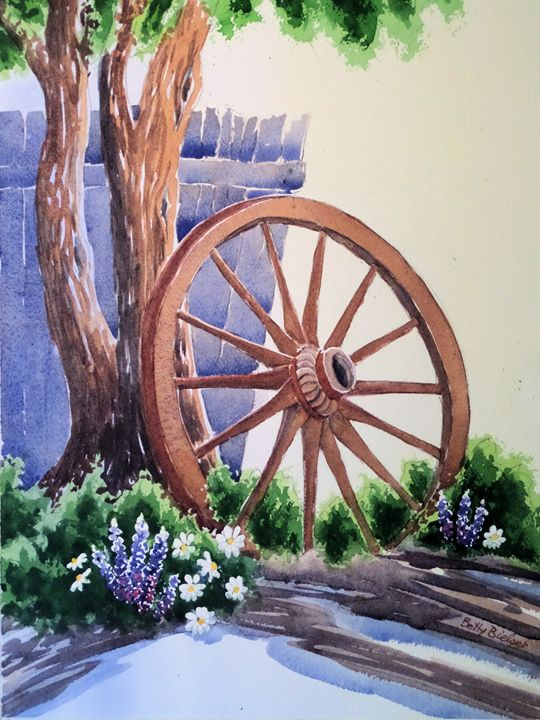 Wagon Wheel Tree - Bettys Watercolor