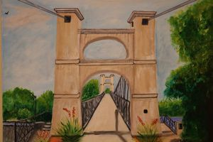 Suspension Bridge Waco Texas - About Town Artistry