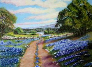 Bluebonnet Countryside