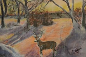 Deer in the Snow - About Town Artistry