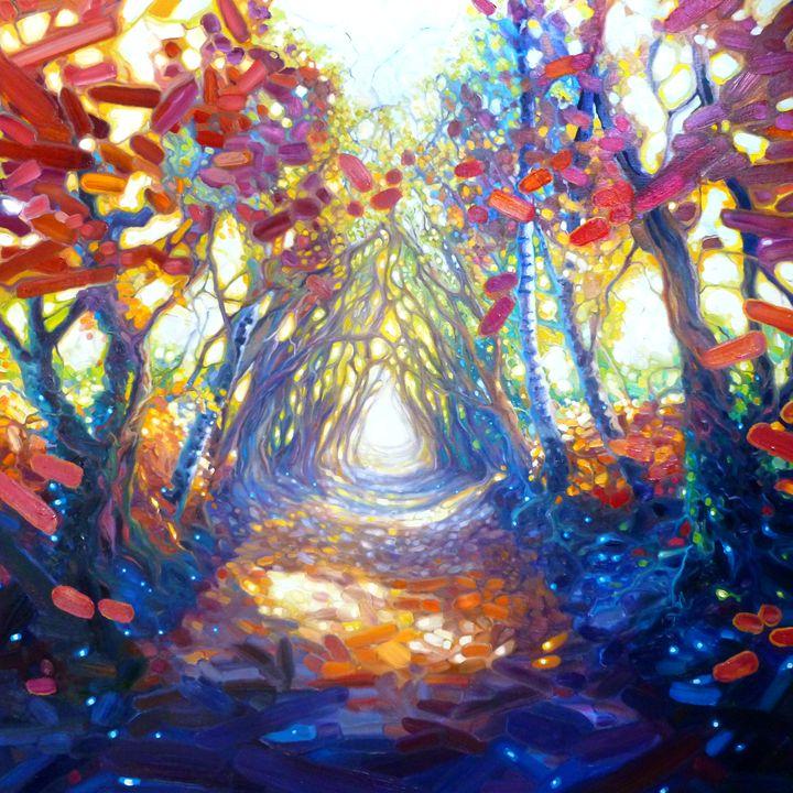 Autumn path to somewhere wonderful - Gill Bustamante - Artist