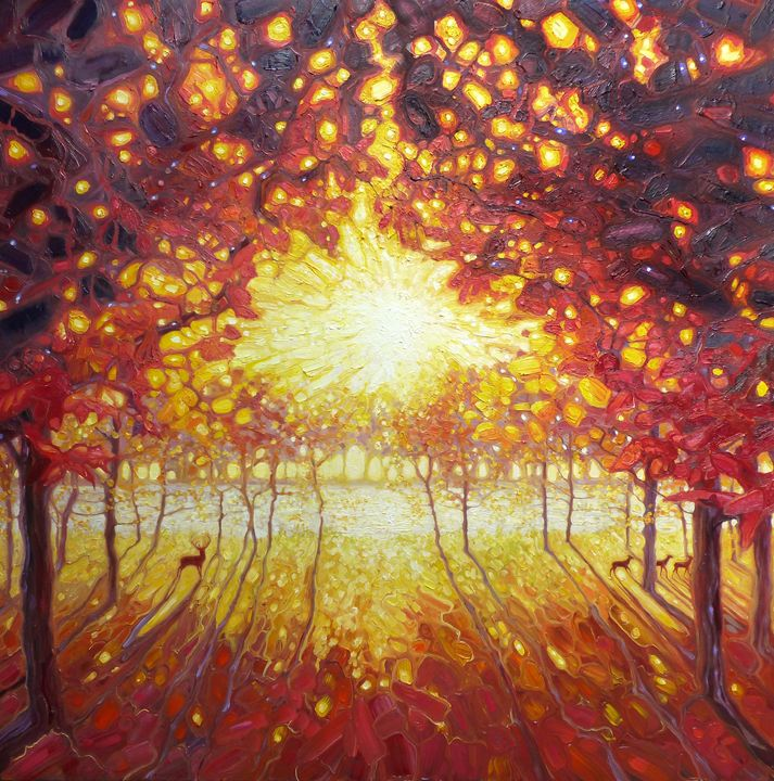 king of the glowing forest - Gill Bustamante - Artist