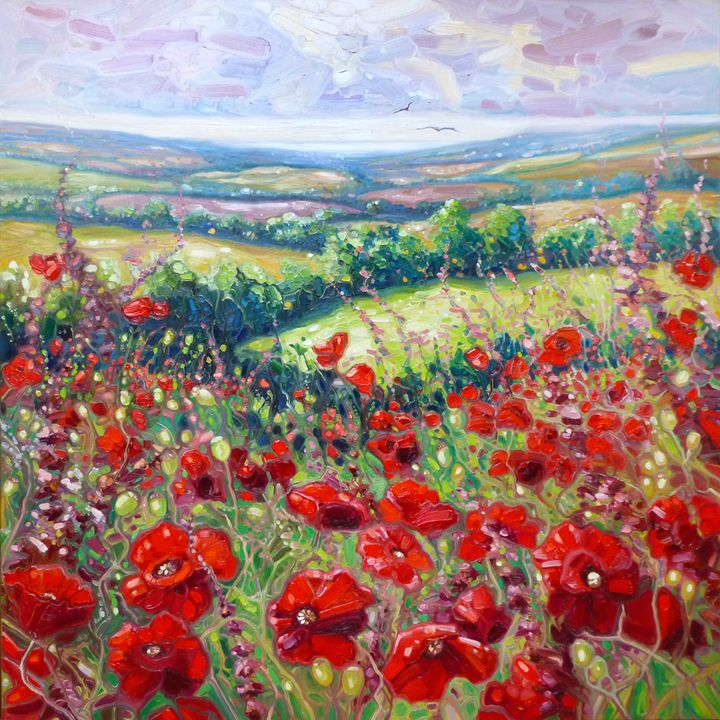 Summer Poppies in a Sussex Meadow 20 - Gill Bustamante - Artist