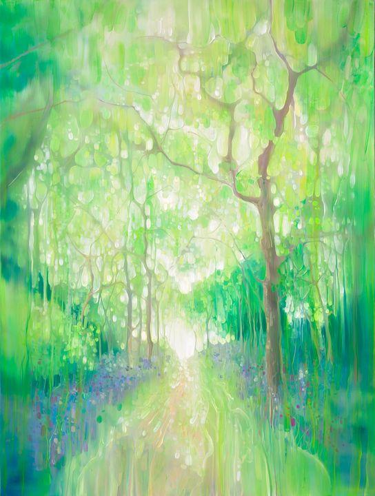 Green Forest Calling - Gill Bustamante - Artist