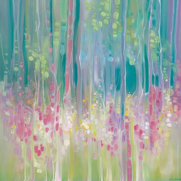 Abstract Summer a summer wildflower - Gill Bustamante - Artist