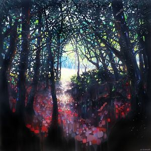 Epiphany, a forest path painting