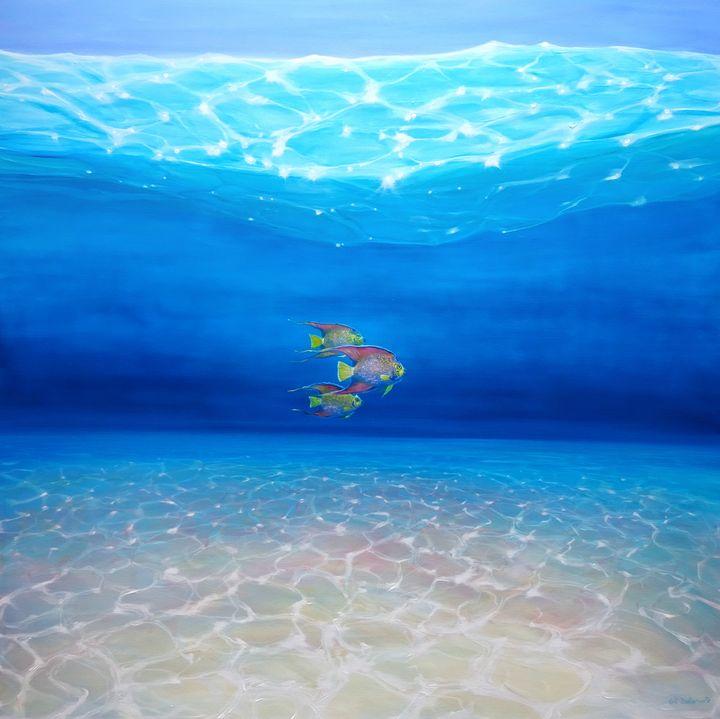 Blue Sea Angels Ride Again - Gill Bustamante - Artist