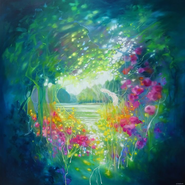 The Owls Secret Garden - Gill Bustamante - Artist
