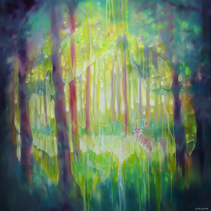 The Hart of the Green Wood - Gill Bustamante - Artist
