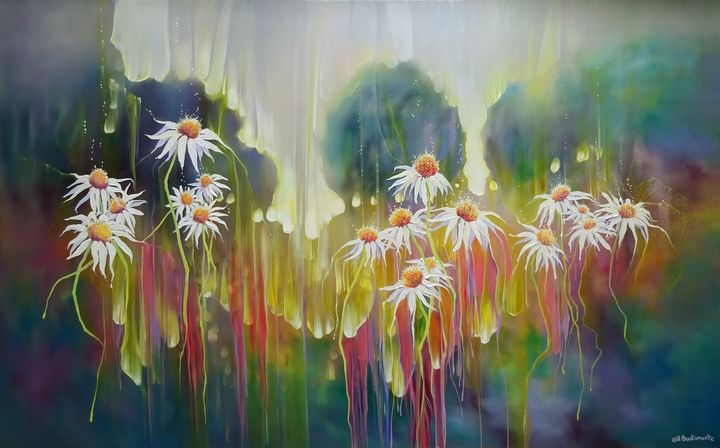 Celebration - Daisies at Sunset - Gill Bustamante - Artist